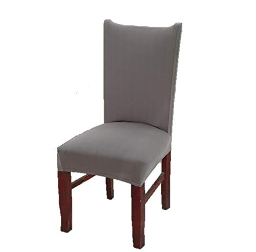 Argstar 6 Pack Chair Covers for Dining Room Spandex Slipcovers Soft Gray