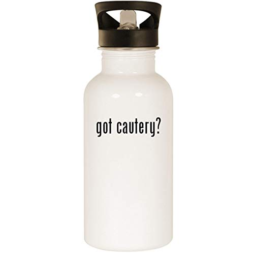got cautery? - Stainless Steel 20oz Road Ready Water Bottle, White