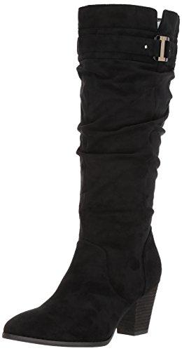 Dr. Scholl's Women's Devote Wide Calf Riding Boot, Black, 9 M - Boot Wide Calf