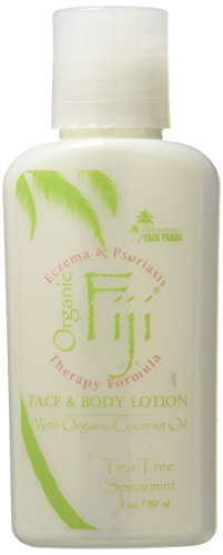 Organic Fiji Coconut Oil Moisturizer, Tea Tree Spearmint, 3 Ounce