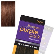 - Outre Purple Pack 100% Human Hair Weave (10 inches, 4(Medium Brown))