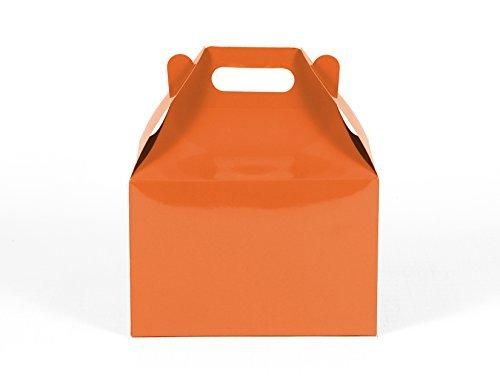 12CT (1 Dozen) Large Biodegradable Kraft / Craft Favor Treat Gable Boxes (Large, - Store Gables
