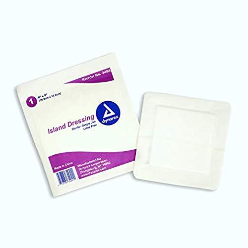 6x6 Island Dressing - Sterile . Single Use - Box of 25