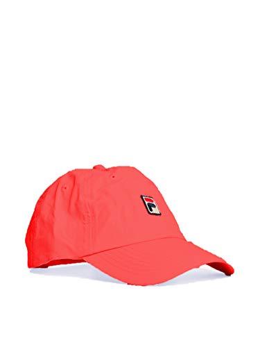Fila Unisex Heritage Adjustable Matte Nylon Dad Cap Hat (Red)