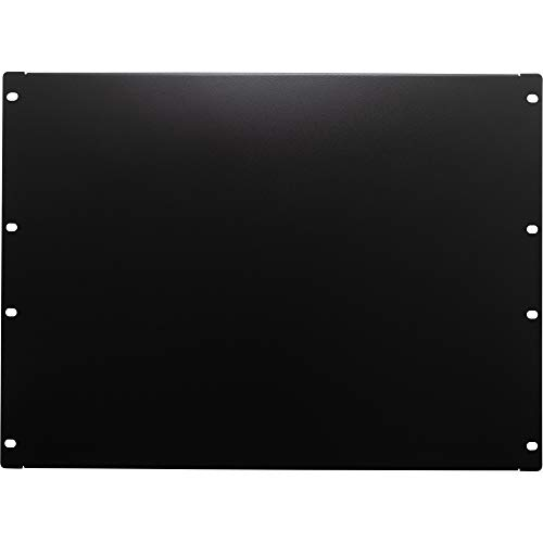 (NavePoint 8U Blank Rack Mount Panel Spacer for 19-Inch Server Network Rack Enclosure Or Cabinet Black)