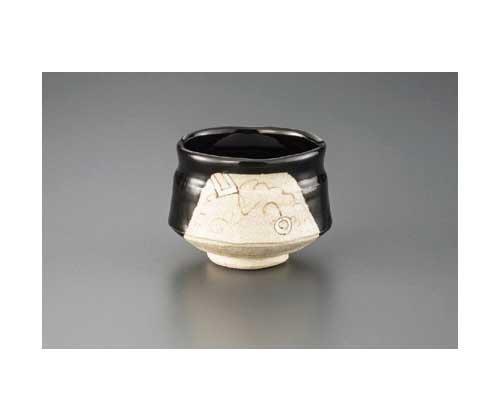 Made by Shunsou Black Oribe 11.5 cm Match Bowl Pottery Ware