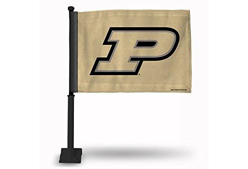 - NCAA Purdue Boilermakers Car Flag, Gold, with Black Pole