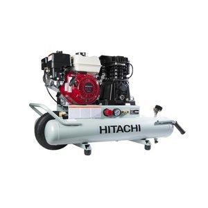Hitachi EC2610E Gas-Powered Wheeled Portable Air Compressor with Honda Engine, 8 gallon