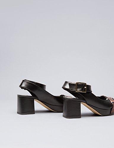 Find Tacco Sandalo black Nero Donna Con 0FfAxqFwR