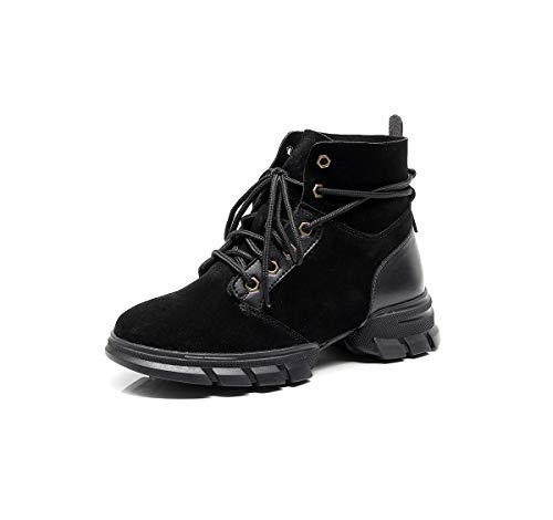 Martin Femme Sport Sangle à pour de épaisse Chaussures Black Boots qTZxf