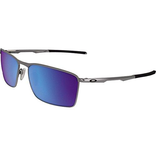 Oakley Men's Conductor 6 Non-Polarized Iridium Rectangular Sunglasses, Lead, 58.03 - 6 Conductor Oakley