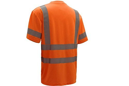 CJ Safety CJHVTS3001 ANSI Class 3 High Vis Long Sleeve Safety Shirt Moisture Wicking Mesh (Extra Large, Orange)