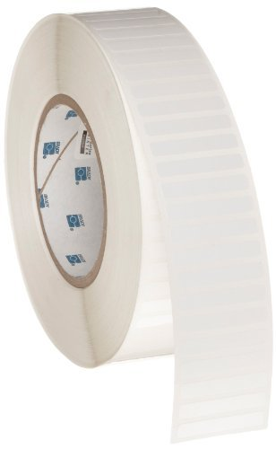 Brady THT-45-423-10 1.5'' Width x 0.25'' Height, B-423 Permanent Polyester, Gloss Finish White Thermal Transfer Printable Label (10000 per Roll) by Brady