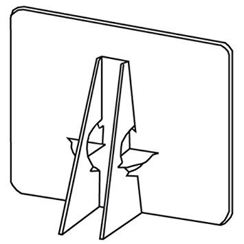 Lineco Self-Stick Double Wing Easel Back, 7 inches, White, Package of 25 ()