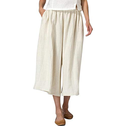 Gamma Shell Pants - JustWin Super Casual Pants Womens Cotton Linen Blend Pocket Plus Size Wide Leg Casual Pants Beige