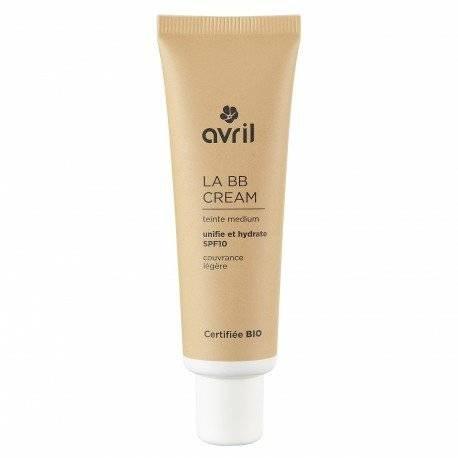 Organic Moisturising Cream - AVRIL - BB CREAM - MEDIUM - Complexion Homogenizer, Smooth Texture, Long-Lasting - With organic moisturising aloe vera - 30 ml