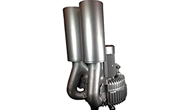 "AIR-3221: 30.00HP Three Phase 230/460VAC - REGENERATIVE BLOWER: Max Flow: 1519CFM, Max Press: +64""H20, Max Vac: -76""H20, 5.00"" Threaded NPT Connections"