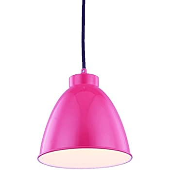 Kitchen Pendant Light,Modern Hanging Light Fixture,Rose Painted Metal Lamp Shade, Adjustable Ceiling Light, Support LED, Suitable for Living Room, Patio, Kids Room, WISBEAM