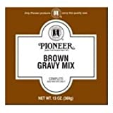 Pioneer Light Brown Gravy Mix, 11.3 Ounce - 6 per case.