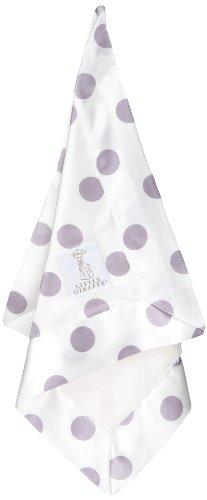 Little Giraffe Luxe Cream Dot Blanky, Lavender