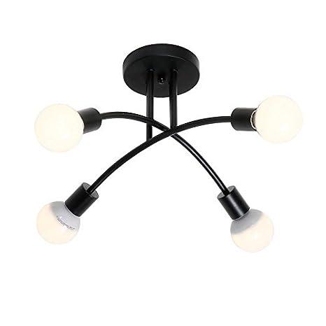Creative Fer allumette Lampe de salon plafonnier Fashion