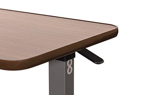 Eva Medical Adjustable Overbed Table With Wheels Hospital