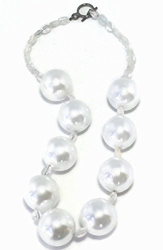 Handmade White Simulated Pearl Necklace For Women