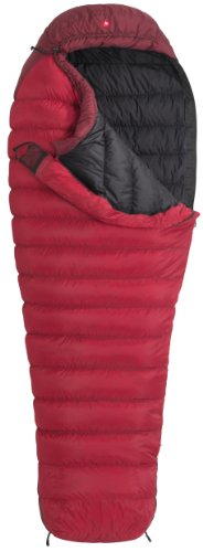 Marmot Arete Long Down Sleeping Bag, Long-Right, Red, Outdoor Stuffs
