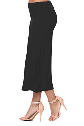 iliad USA 7012 Women's Knit Jersey Capri Culottes Pants Black 5XL