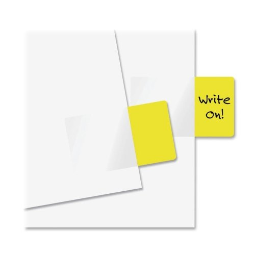 "Redi-Tag Standard Size Page Flag - Removable, Self-adhesive - 1"" x 1.69"" - Yellow - 50 / Pack"