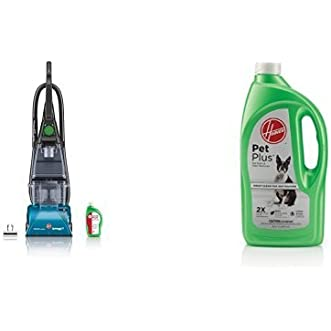 Hoover SteamVac Carpet Cleaner with Clean Surge with Hoover 2X PetPlus Pet Stain & Odor Remover 32 oz