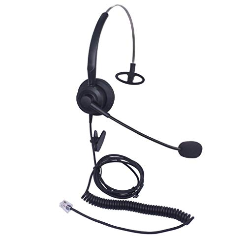 Audicom H200CSB Mono Call Center Headset headphone with Mic for Cisco Unified Telephone IP Phones 7931G 7940 7941 7942 7945 7960 7961 7962 7965 7970 and Plantronics M10 MX10 Vista Modular Adapters