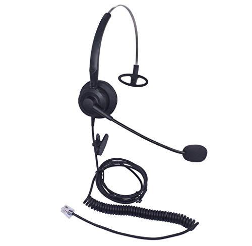 Audicom H200CSB Mono Call Center Headset headphone with Mic for Cisco Unified Telephone IP Phones 7931G 7940 7941 7942 7945 7960 7961 7962 7965 7970 and Plantronics M10 MX10 Vista ()