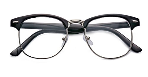 Kelens Classic 50mm Horned Rim Clubmaster - Nose Without Pieces Eyeglasses