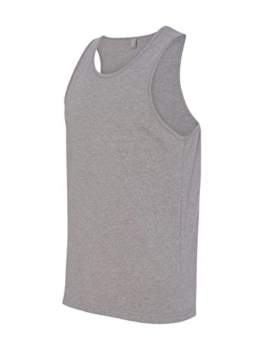 Next Level Men's Rib-Knit Sublimated Muscle Tank Top, Large, Dark Heather Gray
