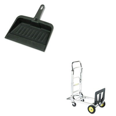 KITRCP2005CHASAF4050 - Value Kit - Safco Hide-Away Convertible Truck (SAF4050) and Rubbermaid-Chrome Heavy Duty Dust Pan (RCP2005CHA)