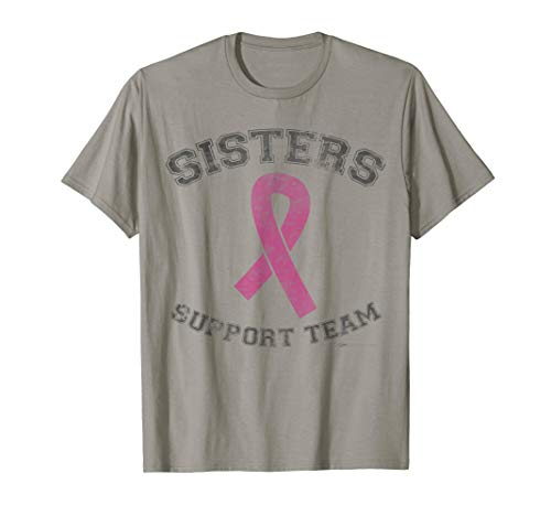 (Vintage Sisters Support Team Breast Cancer Awareness T Shirt)