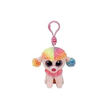 66598d7319e TY Beanie Boos - Rainbow The Multicoloured Poodle  Amazon.com.au ...