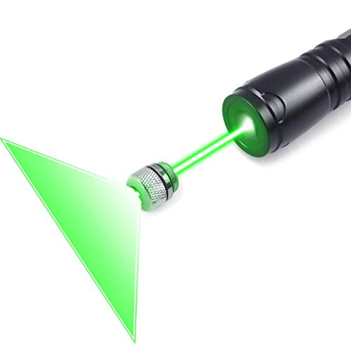 FreeMascot Green Light Line Beam Presenter Pointer 5 Miles Range Distance at Night Best for Astronomy, Hiking, Camping (Black) (Green Light)