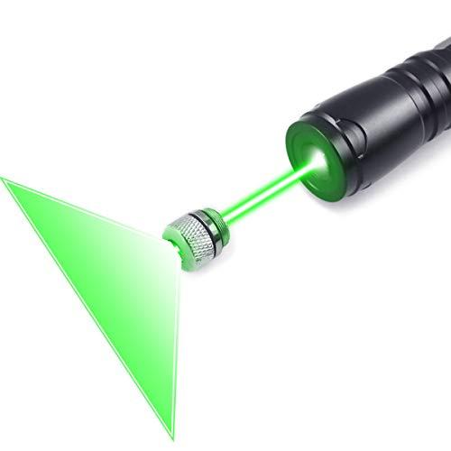 (FreeMascot Green Light Line Beam Presenter Pointer 5 Miles Range Distance at Night Best for Astronomy, Hiking, Camping (Black) (Green Light))
