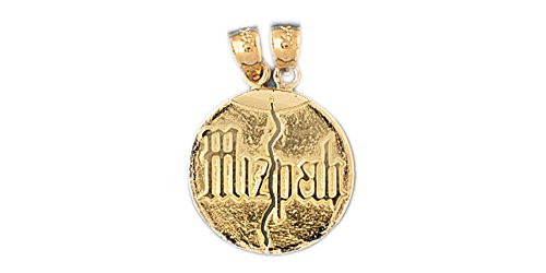 14k Yellow Gold Mizpah Pendant 14k Yellow Gold Mizpah Pendant