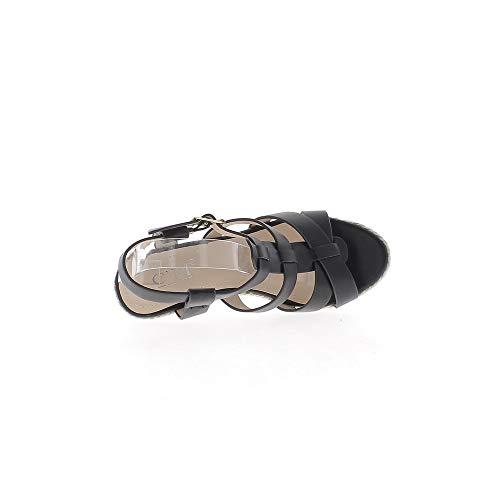 Talons Jute 10 Et Brides Compensées 5cm De Noires À Plateforme Avec Larges Sandales tqxUwIZFB