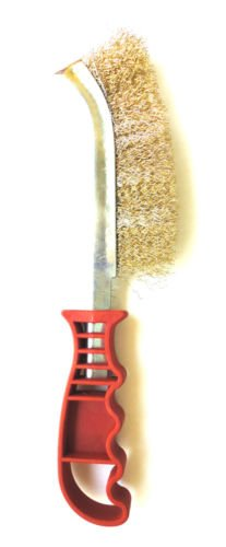 Crimped Wire Knife Brush Barbeque BBQ Grill Brushes & Metal Scraper Clean Tool by Syl Billionair