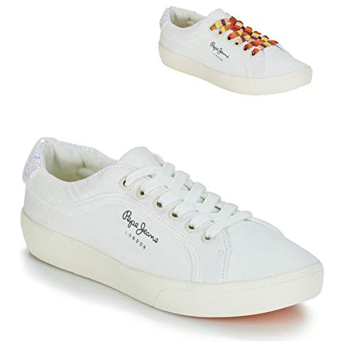 Para Mujer 800 Pepe Zapatillas Rene Jeans 800white Weiß Surf IqXH8Xwxr