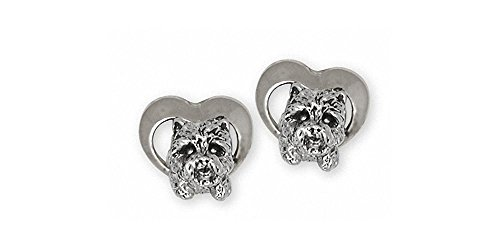 Westie Earrings Jewelry Sterling Silver Handmade West Highland White Terrier Earrings WS3-E2