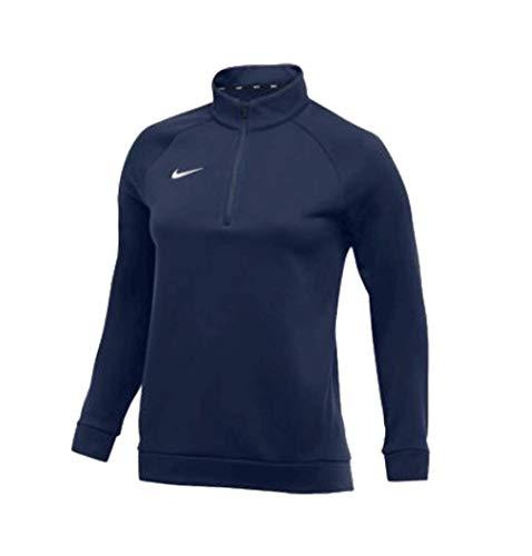 - Nike Women's Therma Training Top 1/2-zip Mock-Neck Raglan Sleeves Navy/White Size XL