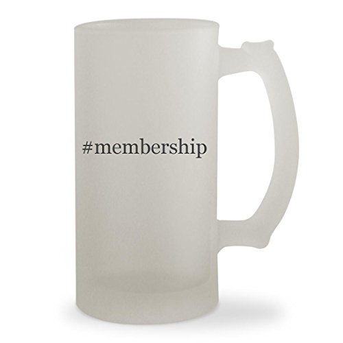 #membership - 16oz Hashtag Sturdy Glass Frosted Beer Stein