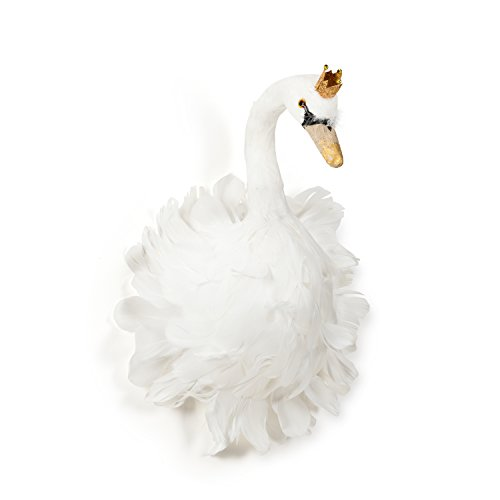 Abbott Collection 27-Flair/Wht MD Medium Swan with Crown Crown Swan