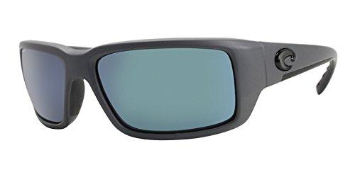 Costa Del Mar Blue Lens - Costa Del Mar Fantail 580G Fantail, Matte Gray Blue Mirror, Blue Mirror