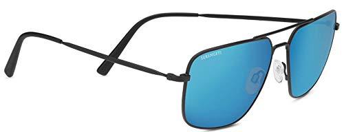Serengetti Sport Sunglasses Agostino Metal Matte Black Mineral Blue